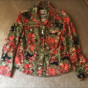 Live A Little Fall Colors Jean Jacket - Large